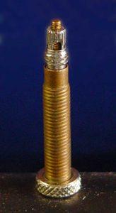 Nærbilde av en Presta ventil.